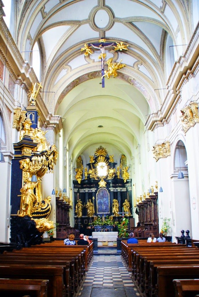Inside the church at the Benedictine abbey in Tyniec outside Krakow in Poland