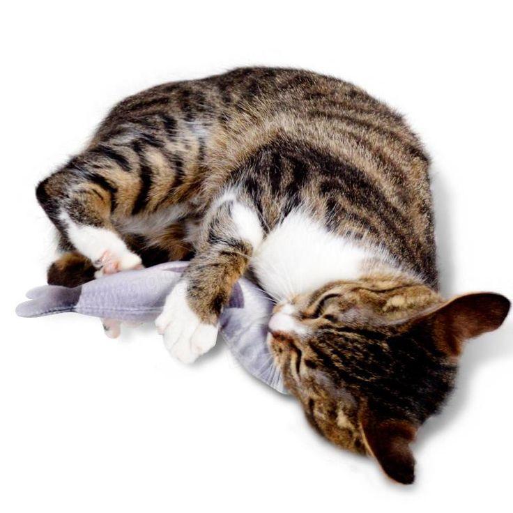Yani 30cm Large Size Interactive Pets Pillow Catnip Toys Simulation Plush Fish Shape Doll Chew Bite Cat Toy at Banggood
