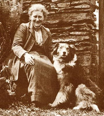 Beatrix Potter and her border collie.