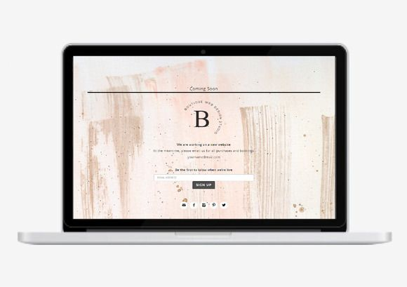 Coming Soon Web Page Responsive by Boutique Design Studio on @creativemarket