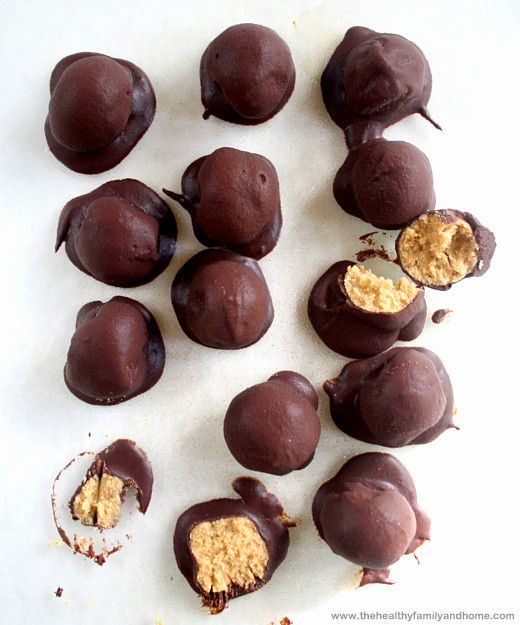 Healthy-Peanut-Butter-Bon-Bons. I could eat a million of these and easily cancel out that healthy factor. -KY