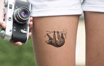This sloth: | 68 Beautiful Temporary Tattoos You'll Want To Keep Forever