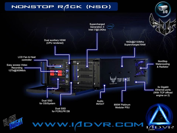 Solide Stat DVR for zero heat and noise. Built with ASUS Sabertooth republic of gamers with watercooling for security systems. www.IADVR.com