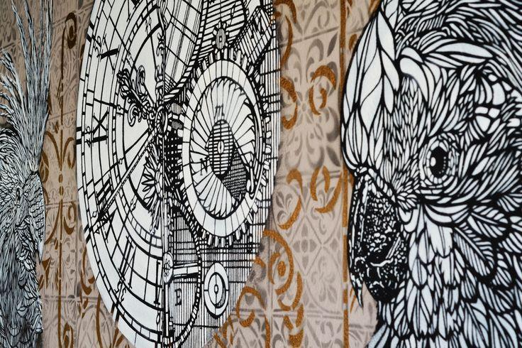 street art Université de Bordeaux Montaigne  Aigle