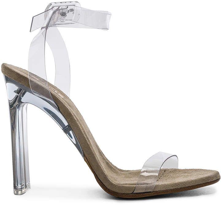 18c83b6be3a Yeezy Season 6 Ankle Strap PVC Heels