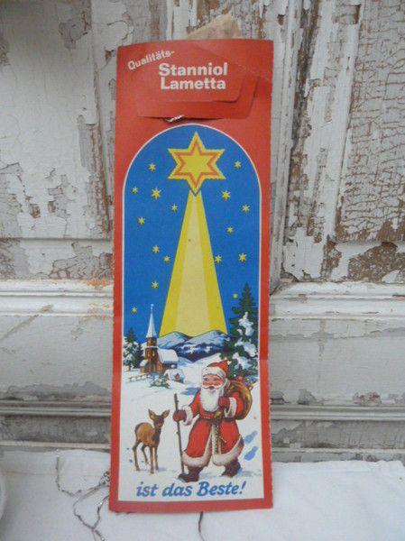 Vintage Weihnachtsdeko - 50er Jahre Stanniol Lametta, Lauscha - ein Designerstück von schneeweisschen-55 bei DaWanda