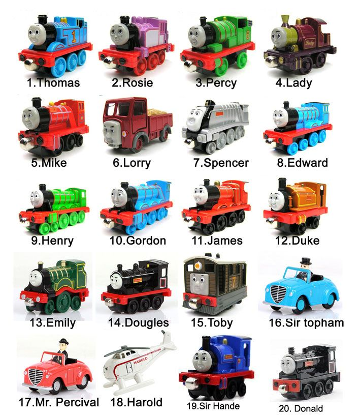 5PCS /Lot Diecast Metal Thomas And Friends Train Toy Magnetic Models Engine Trackmaster Toys For Kids Children Gifts 44 designs