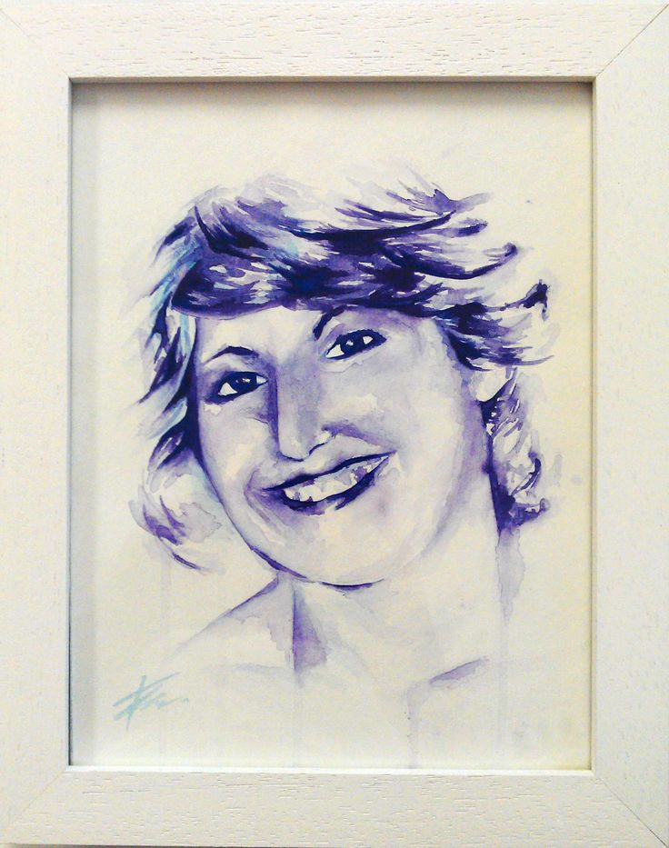 Zee's mum, watercolour portrait by Tasneem Kamies for KIN on Kloof's Mother's Day window exhibition  For more info on this exhibit- http://bit.ly/1rBb0yS  kinshop.co.za - growing local art & design