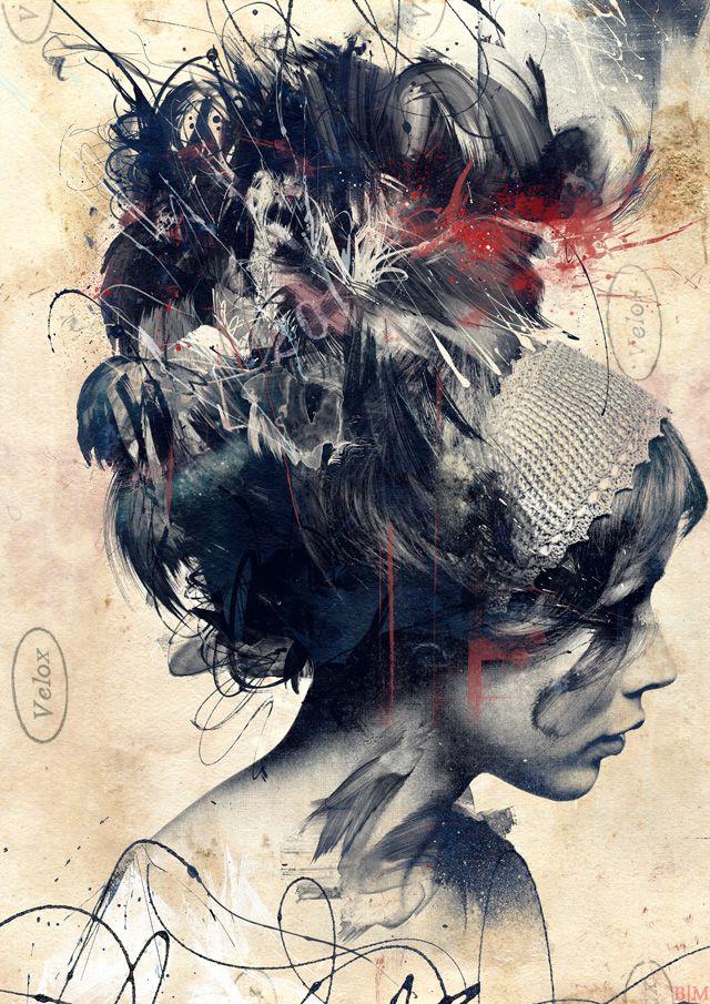 Russ Mills #Art #Painting #Woman #Face
