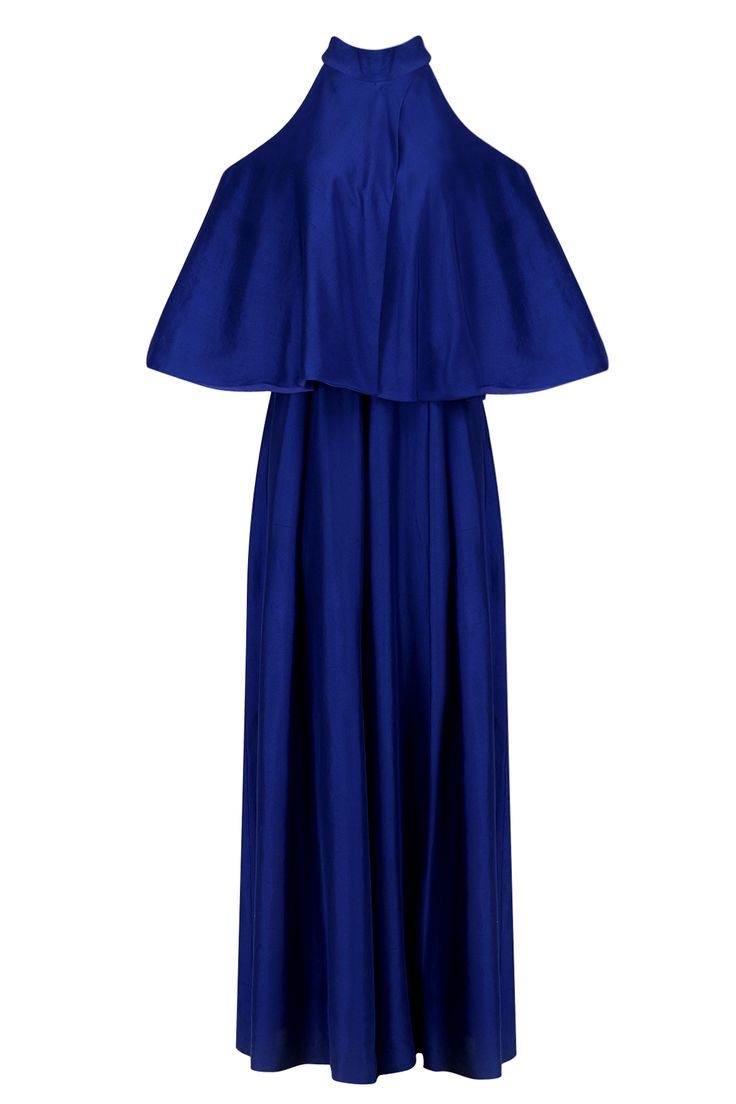 Manish Malhotra Royal blue cold shoulder jumpsuit available only at Pernia's Pop Up Shop.