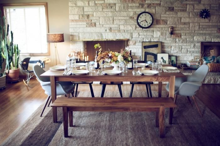 Radford-Brown Table Fall Dinner with Friends via Remodelista #anthropologie #pintowin