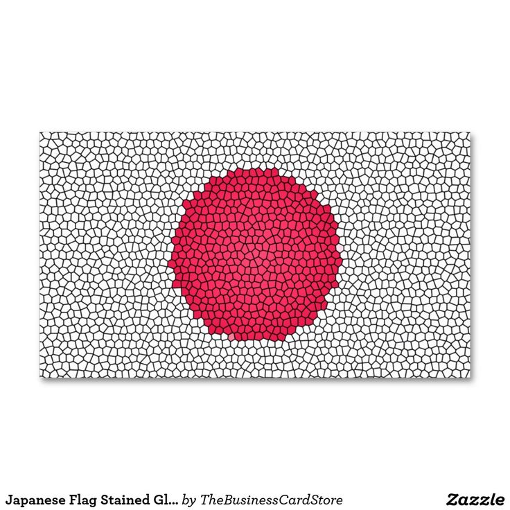 Japanese Flag Stained Glass Effect Japan Business Card