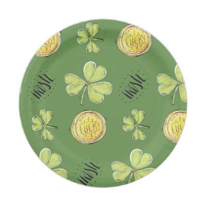 Luck Of The Irish Paper Party Plates - kitchen gifts diy ideas decor special unique individual customized