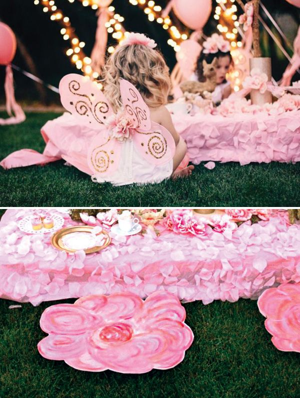 Poses crianças.  Twinkling Fairy Tea Party {Party on a Dime #4}