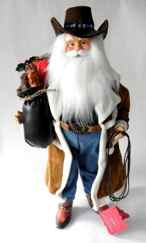 St nicholas square cowboy santa figurine by kohls http
