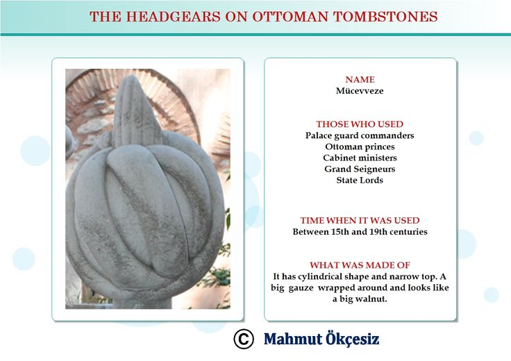 Ottoman princes of Royal family, state landlords and ministers used to wear this head gear
