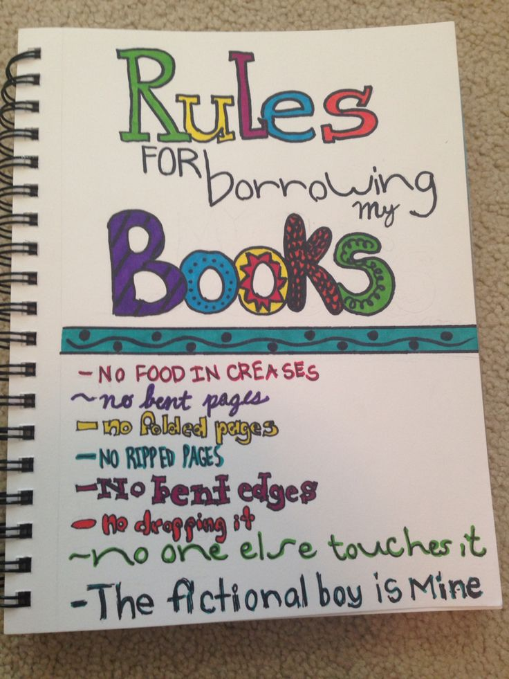 Rules for Borrowing my Books :)