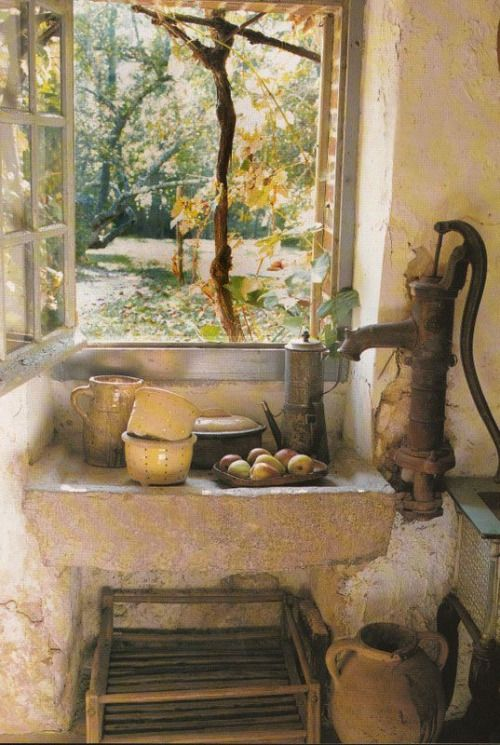Wow Both Sink And Pump Are Ancient Rustic French Chic