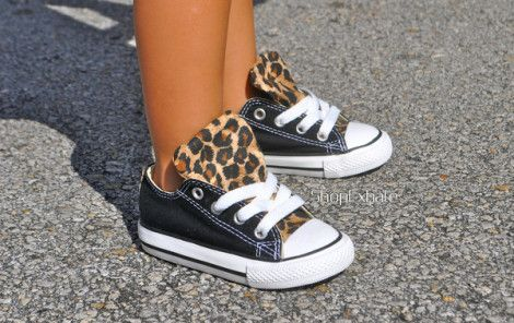toddler size leopard converse sneakers