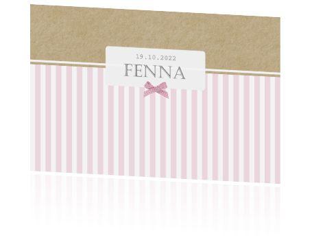 Stijlvol geboortekaartje ontworpen door Jo-Anne Stijlvolle Geboortekaartjes. Dit kaartje is eenvoudig aan te passen in onze editor naar jullie wensen.
