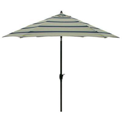 Aluminum Patio Umbrella In Burkester Stripe The Home Depot