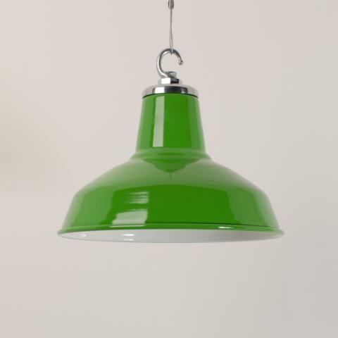 Funky enamelled pendant - Pea Green   Trainspotters