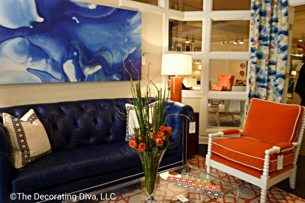 Living room furniture & decor in vivacious colors; bursting w/style at @C R Laine Furniture  - artwork by @Tracy Stewart Hiner. #hpmkt: Vivaci Colors, Living Room
