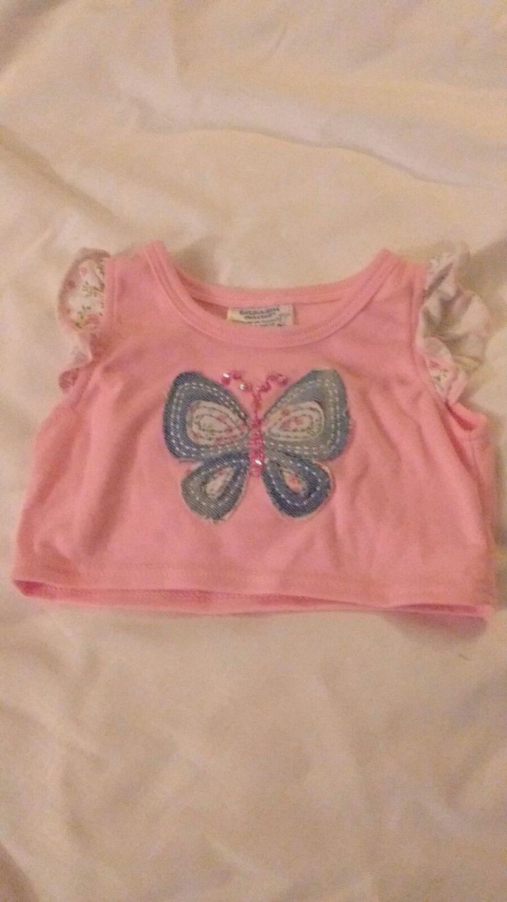 Build a Bear Pink Butterfly Shirt