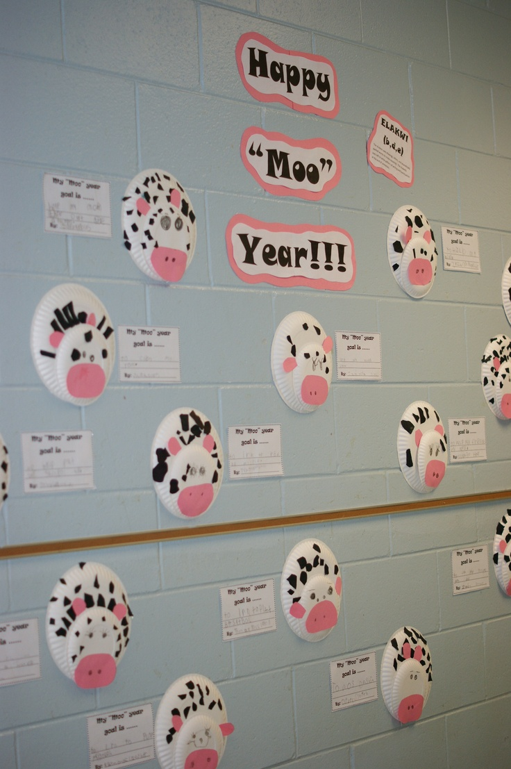 Happy Moo Year! Saw this saying at Chick-fil-a and create this! ♥