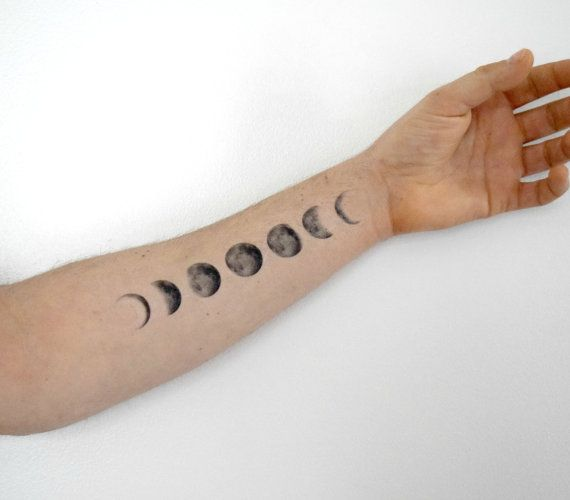 temporary tattoo moon phase moon temporary tattoo. Black Bedroom Furniture Sets. Home Design Ideas