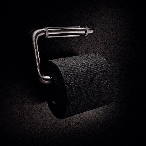 #black #toiletpaper at Clarion Hotel Sign in #Stockholm - Instagram photo by @Wolf Hörner (Wolf Hörner)