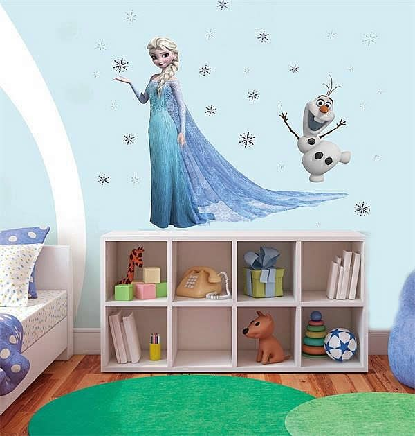Frozen wallsticker med Elsa og Olaf