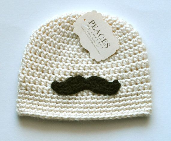 Hey, I found this really awesome Etsy listing at http://www.etsy.com/listing/116917110/baby-hats-cream-off-white-mustache-baby