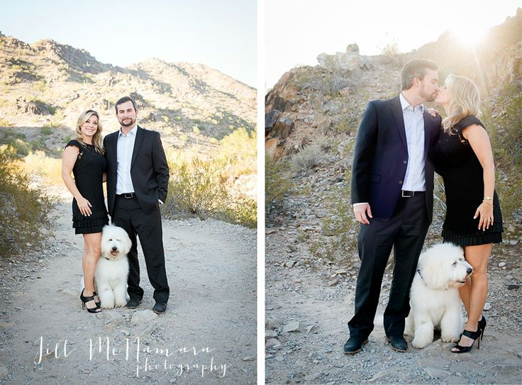 Including your dog in your engagement photos is such a fun idea! Marisa & Jason | Phoenix Engagement Photographer