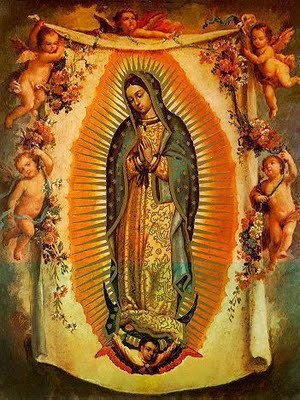 my secret tattoo fantasy...? this virgin mary as a back piece! without the angel babies....