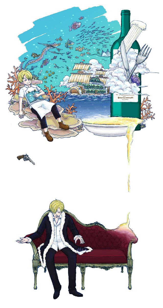 I love this, but it makes Sanji-san look like he's seriously depressed...