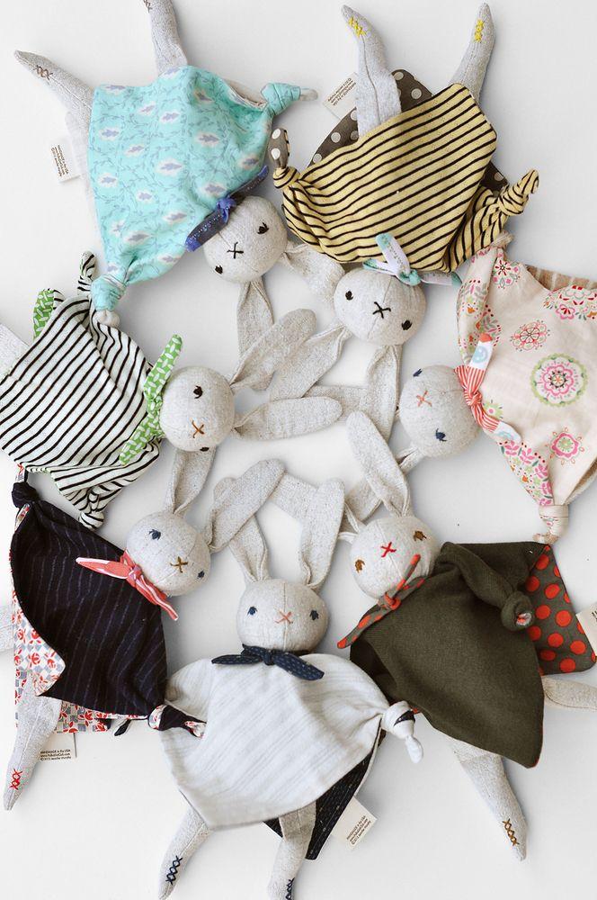 Polka Dot Club cuddling rabbits