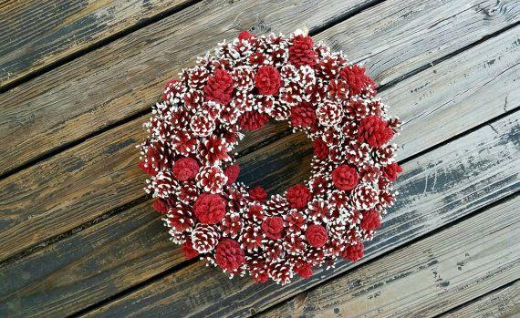 Corona di Natale corona di festa pino cono ghirlanda