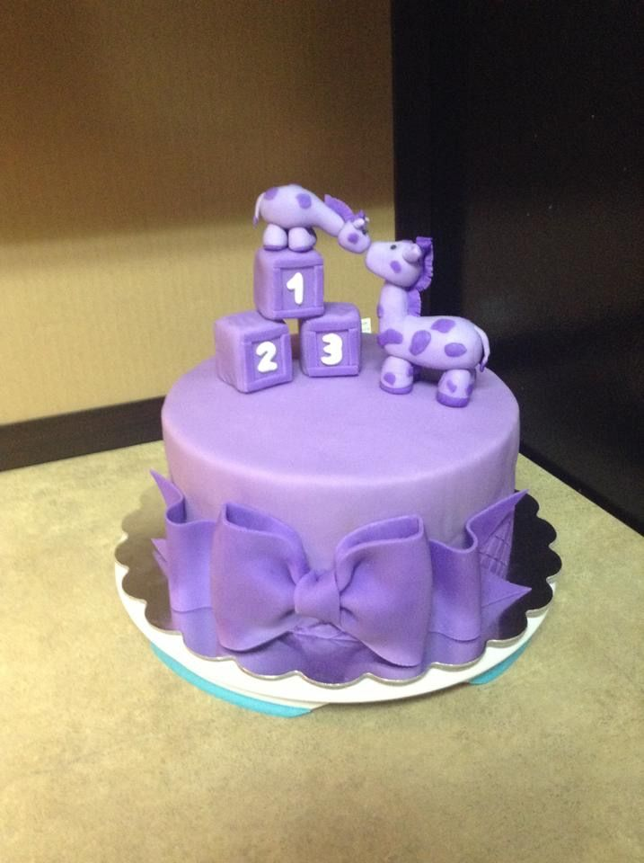 Purple Giraffe Baby Shower Cake Our Cakes Baby Shower