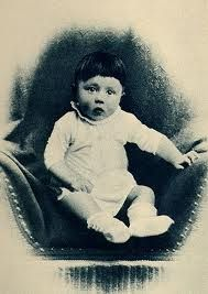 Adlof Hitler just a little boy.