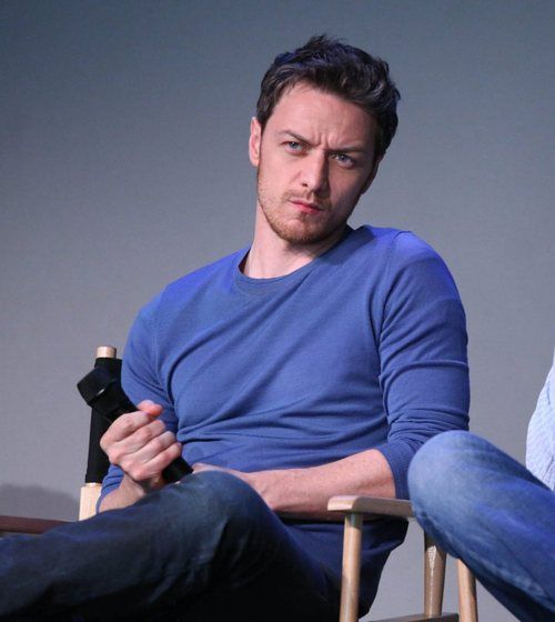 McAvoy- he is really concentrating...on that microphone