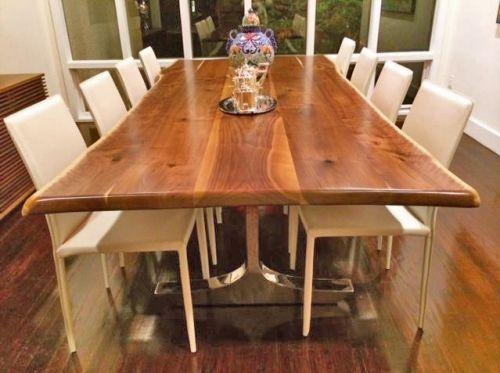 Creek Solid Wood Dining. Creek Solid Wood Dining Natural Live Edge Black  Walnut Slab Table