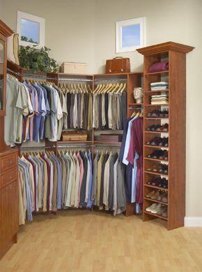 Closet neat idea for the corner of a room