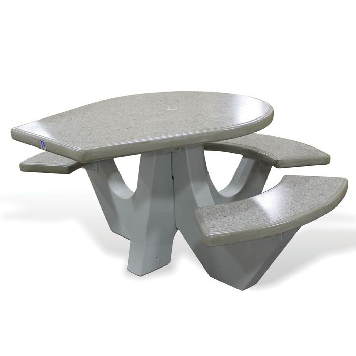 Round Concrete Wheelchair Accessible Picnic Table | Picnic Tables | Upbeat .com