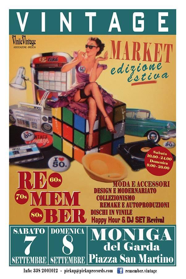 Vintage Market, 7-8 settembre a Moniga del Garda