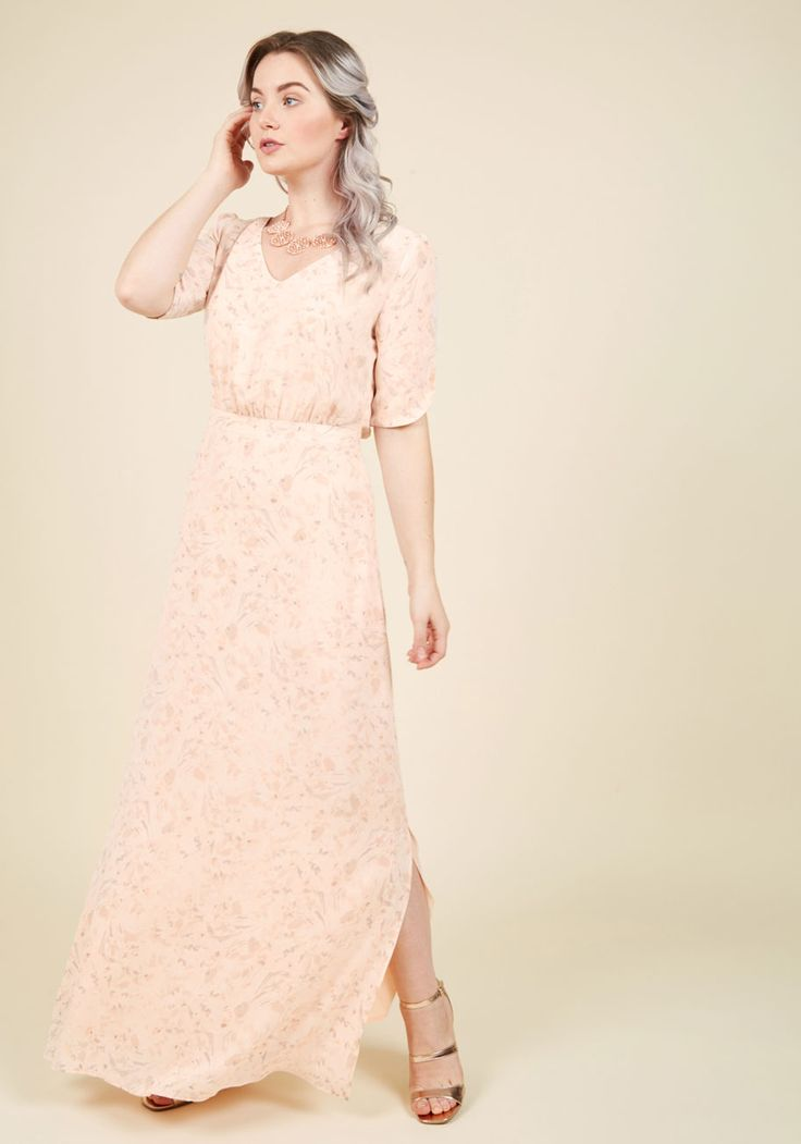Sweetly Swaying Maxi Dress. Each step you take in this graceful maxi dress sends the vented sides of its hemline fluttering about. #pink #prom #modcloth