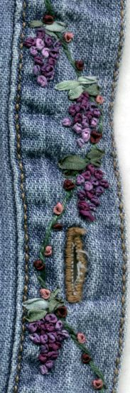 Embroidered for my daughter on a WalMart Denim shirt.  Beth