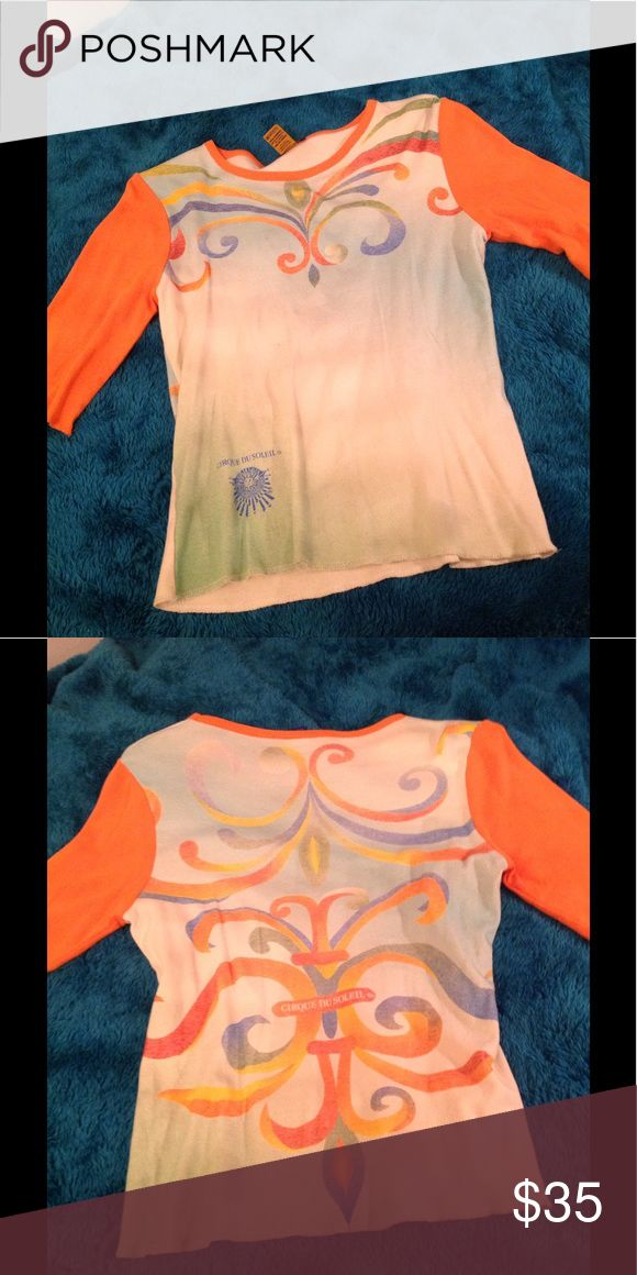 Corque de Soliel Baseball T Original from Atlanta show several years ago. Allegria tent purchase. Worn twice or thrice. 3/4 sleeve. Tops Tees - Short Sleeve