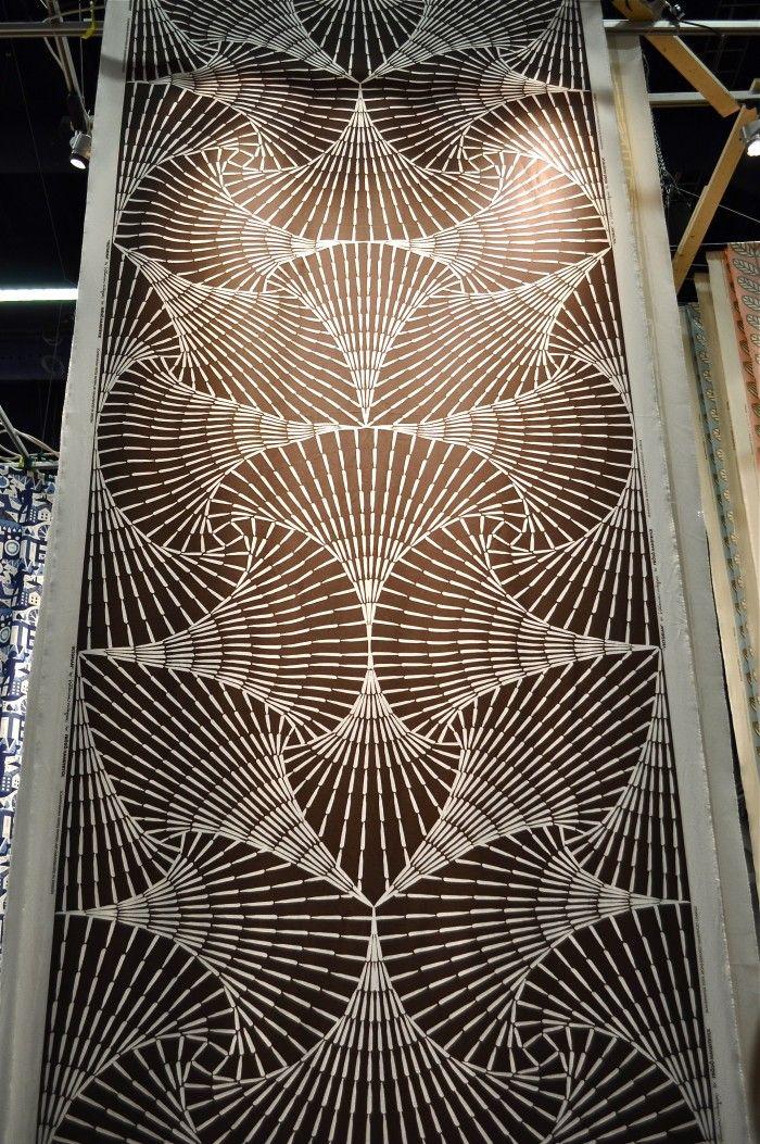 "Fabric ""Vectorian"" by Katarina Widegren, Frösö Handtryck. Want!!"