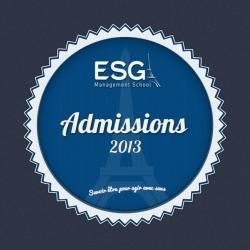 Admissions 2013 ESG Management School - Esgms.fr